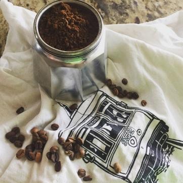 Fresh Ground Coffee Beans