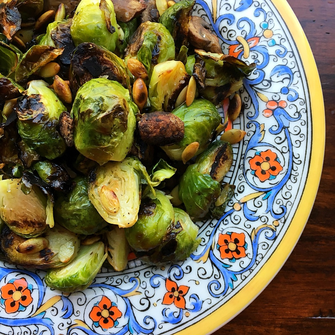 Brussels Sprouts with Pumpkin Seeds
