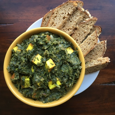 Saag Paneer with Sourdough